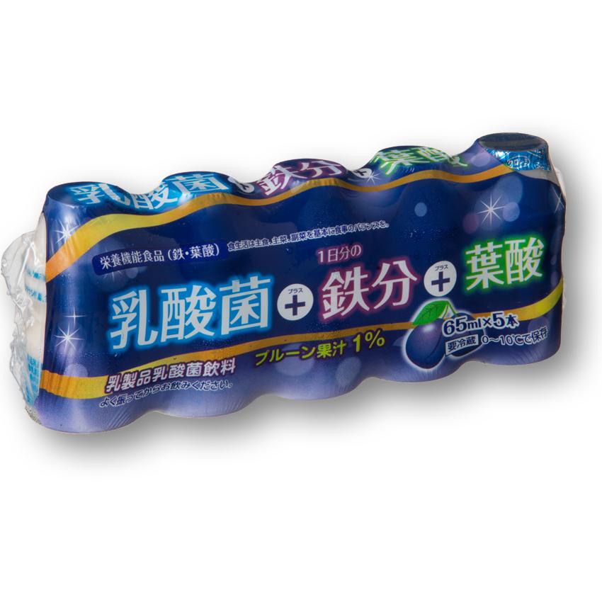乳酸菌+一日分の鉄分+葉酸 5P